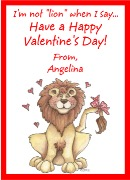 Valentine's Day Lion Personalized Crayon Box Labels