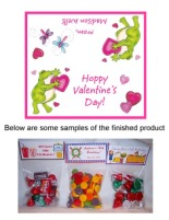 Valentine's Day Frog Party Bag Toppers Favors w/Recloseable Bags
