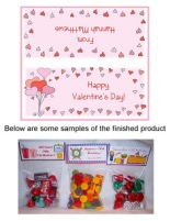 Valentine's Day Hearts Party Bag Toppers Favors w/Recloseable Bags