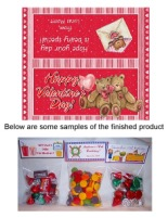 Valentine's Day Bear Party Bag Toppers Favors w/Recloseable Bags