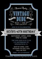 Vintage Birthday Party Invitations