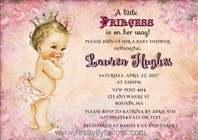 Princess Baby Girl Shower Invitations