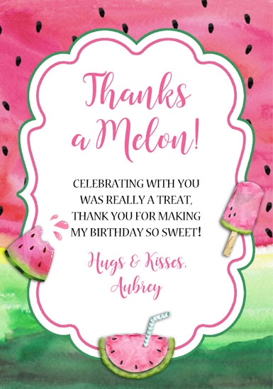 Watermelon Thank You Cards