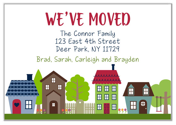 We've Moved Change of Address Announcement Cards