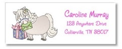 White Pony Return Address Labels