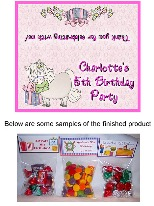 White Pony Birthday Party Bag Toppers Favors w/Recloseable Bags